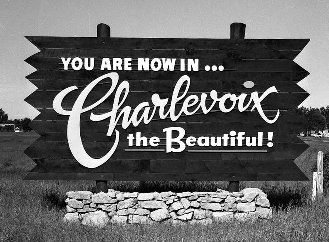 Welcome sign once located on US31 South near the Charlevoix airport.