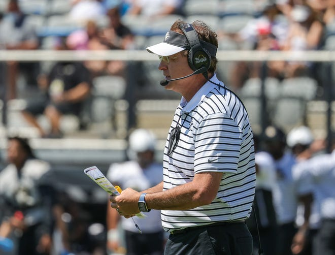 UCF coach Gus Malzahn looks on during last month's spring football game in Orlando. Mike Watters-USA TODAY Sports
