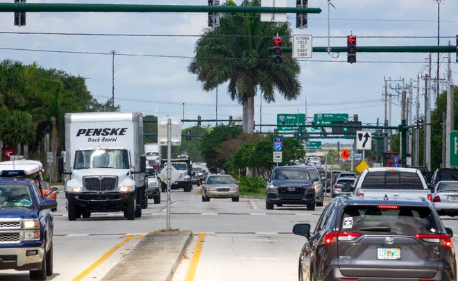 Indiantown Road and Central Boulevard in Jupiter, Tuesday, May 11, 2021.