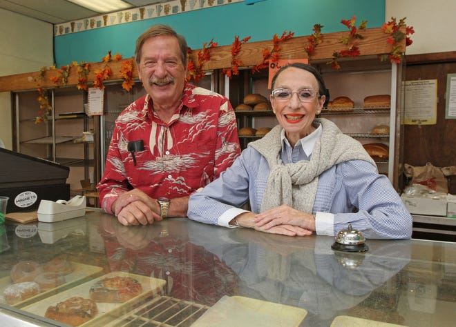 Murray Kaplan will join wife and co-owner Deby in retirement as he closes down his Rainbow Bakery in Cranston after 67 years. The couple is shown here in a 2017 photo.
