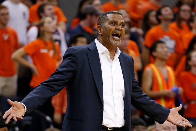 Todd Bozeman, shown in 2015 as head coach at Morgan State, is joining the URI men's basketball staff as an assistant.