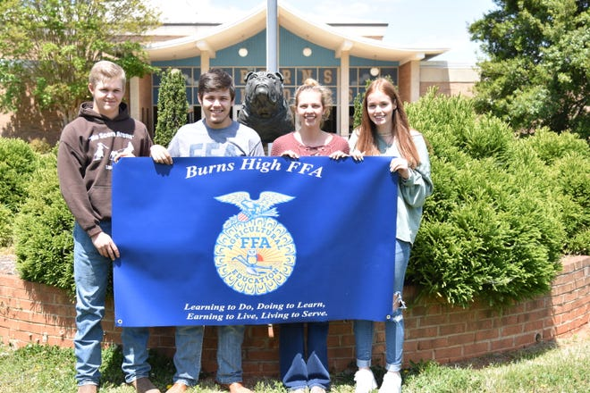Team members (from left) are Lucus Huffstetler, Levi Huffstetler, Chyanne Souders, and Bethany Webb.