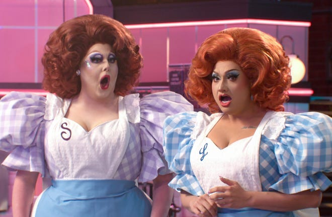 """Selma Nilla and Lagoona Bloo were the first drag performers to compete on the comical baking show """"Nailed It"""" on Netflix."""