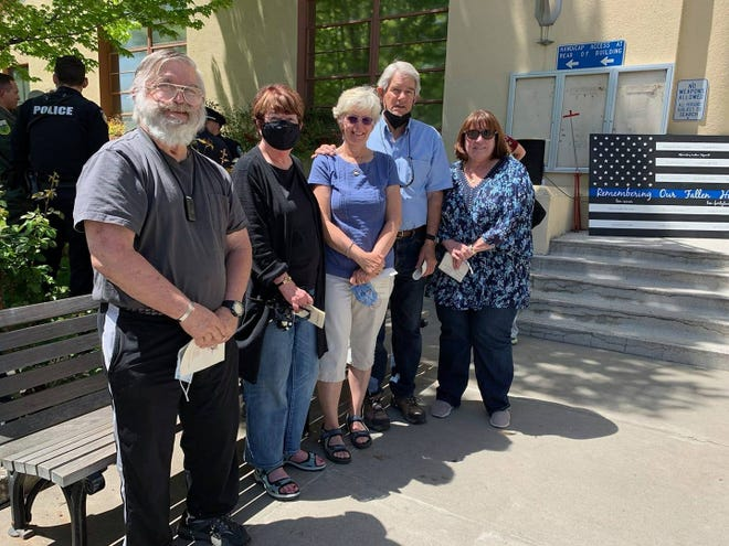 Family members of Siskiyou County Sheriff's Department Deputy Dale Rossetto and Reserve Deputy Lawrence Brecedaattended the event on Tuesday.