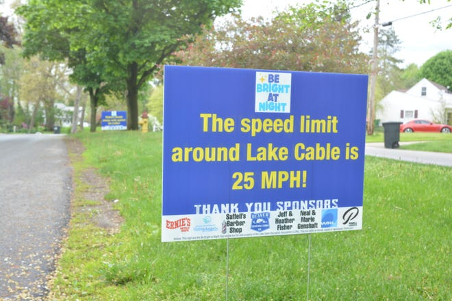 """The Lake Cable Recreation Association is gearing up for its """"Be Bright at Night"""" campaign."""