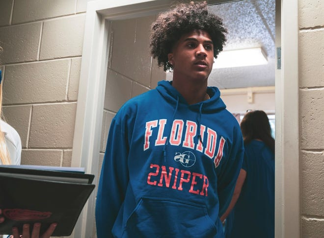 Florida enrollee Marcus Burke checking out his campus setup.