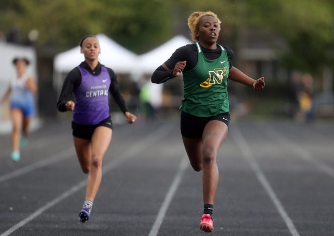 Junior Nahdia Alcorn has been one of Northland's top competitors this spring in the sprints and high jump. The Vikings are competing in the Division I, district 1 meet, which concludes May 22 at Hilliard Darby.