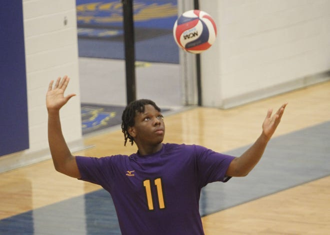 Senior Al Coumbassa has been one of the top players for the Reynoldsburg boys volleyball team. The Raiders are preparing for the Division I East Region tournament, which begins May 21.