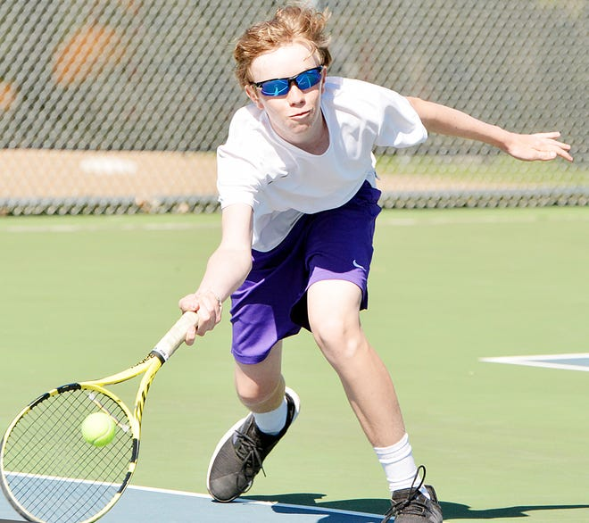Freshman Curtis Sneden finished third in the fifth flight of singles and also teamed with Evan Meester for a fourth-place finish in the third flight of doubles during the Eastern South Dakota Conference boys tennis tournament hosted by  Harrisburg.