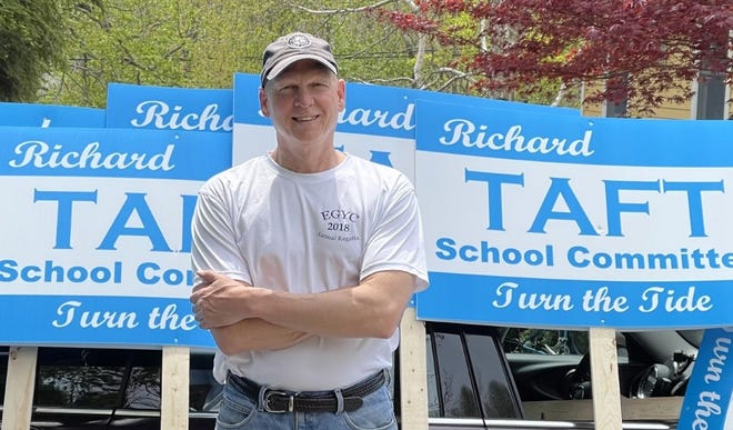 Richard Taft is seeking a seat on the Scituate School Committee.  He is running against incumbent Mike Long.