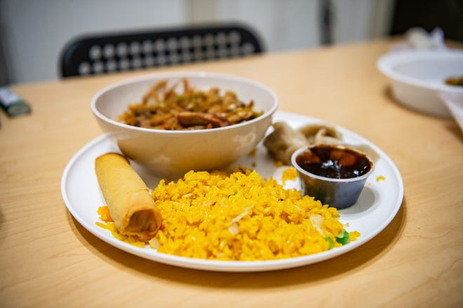 China Taste is located on State Street in West Asheville. Featured above is their Moo Shu Pork, Fried Rice, Fried Dumplings, Spring Roll, and Duck sauce.