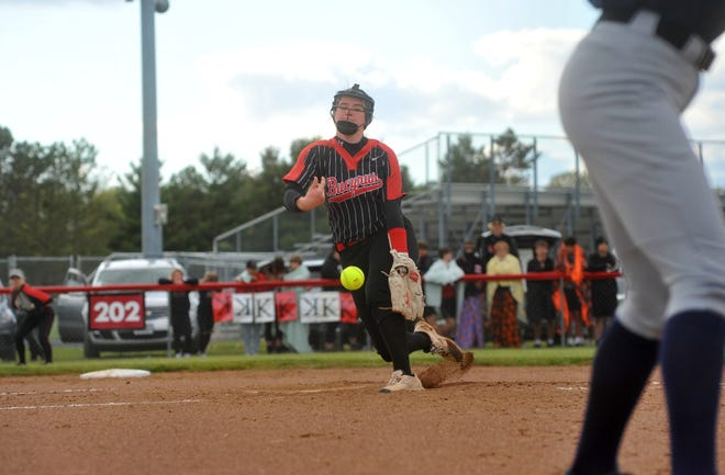 Bucyrus' Caleigh Rister pitches against Carey.