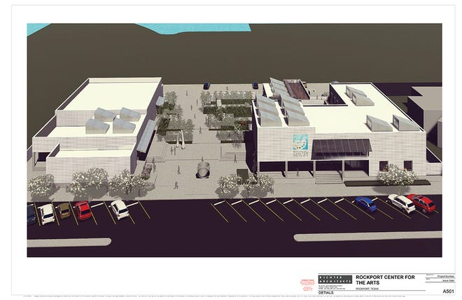 The new 22,000-square-foot Rockport Center for the Arts will cost approximately $8.7 million to construct on a 1.18-acre lot.