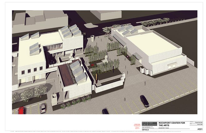 Nearly four years later, the association has broke ground a brand-new center for the arts in downtown Rockport.