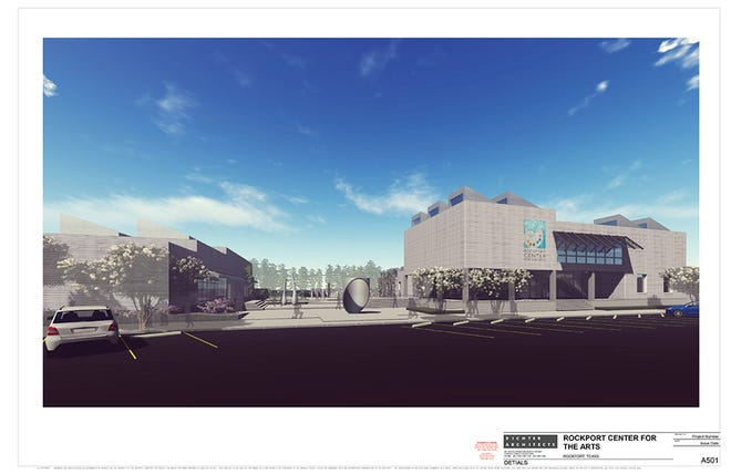 The new Rockport Center for the Arts  will consist of avisual arts and art education complex and aperforming arts facility and convention center.