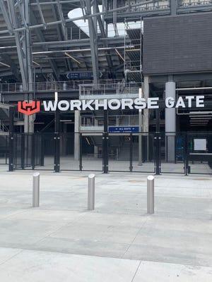 Workhorse Gate at TQL Stadium.