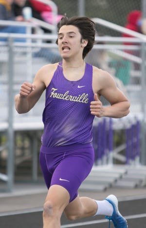 Fowlerville's Randall Kuch placed eighth in Division 2 in the 400-meter run.