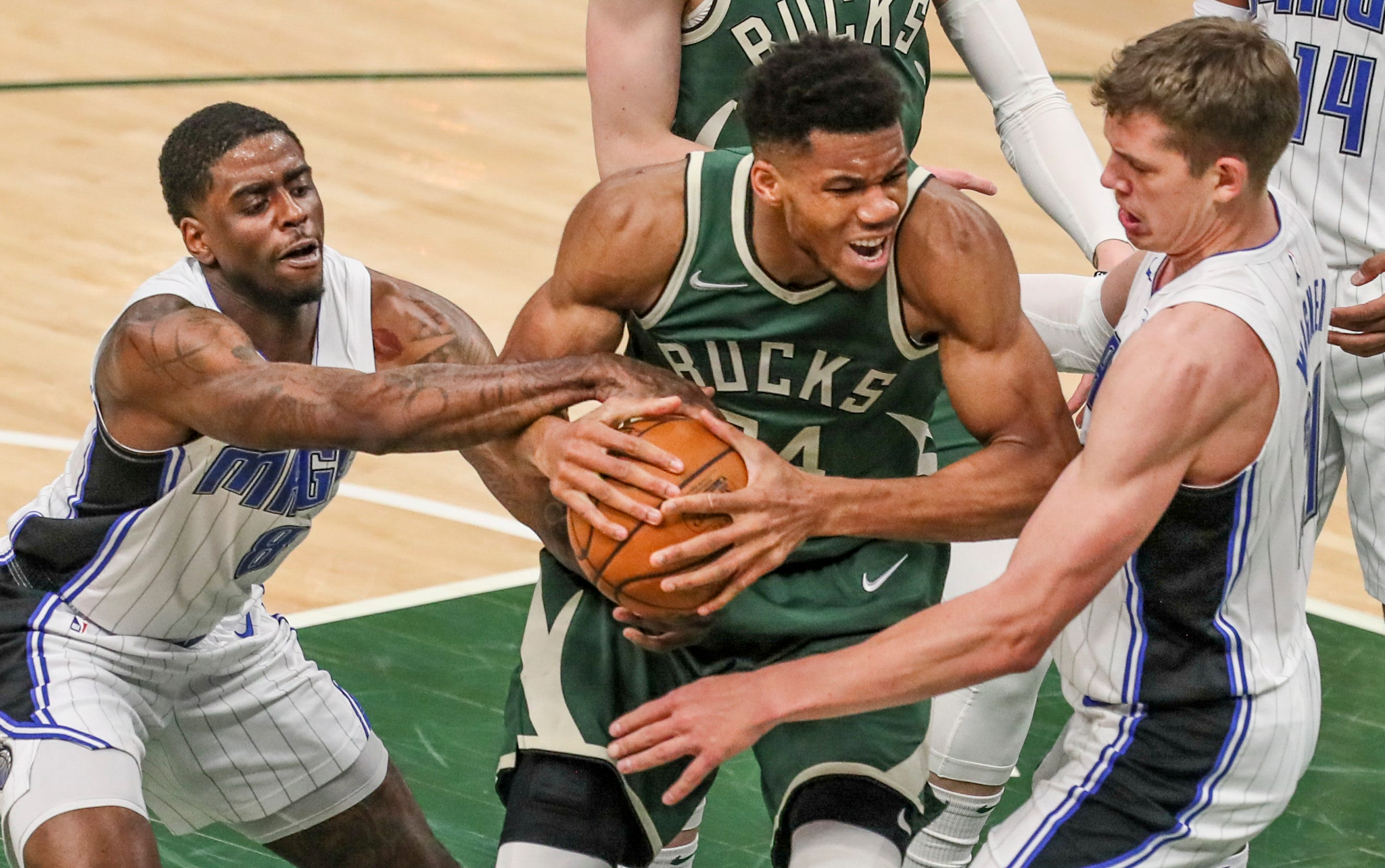Giannis Antetokounmpo welcomes the Bucks' playoff tests: 'Pressure is earned and I love it'