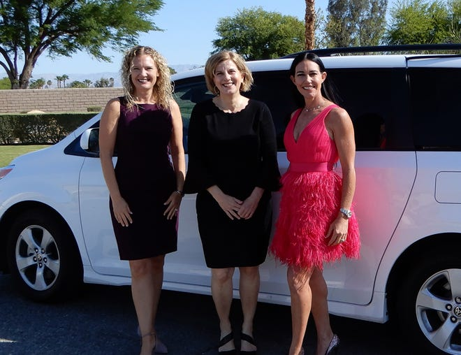 Heidi M. Maldoon, executive director of Variety - the Children's Charity of the Desert, joins Tracy Fitzsimmons, executive director of Olive Crest, Inland and Desert Communities, and Kelly Levy, charities and marketing director of Bighorn Golf Club.