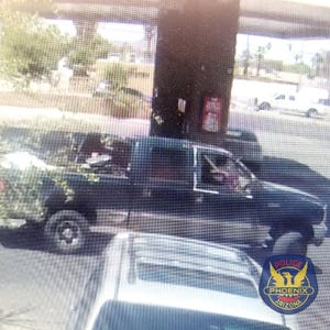 Phoenix police said a report about a baby girl being kidnapped and taken in this truck on May 12, 2021, was made up.