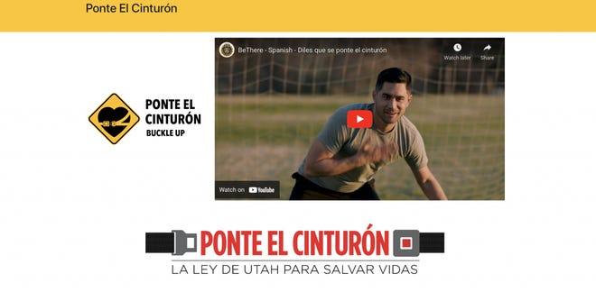 Ponte El Cinturon website Spanish-speaker friendly