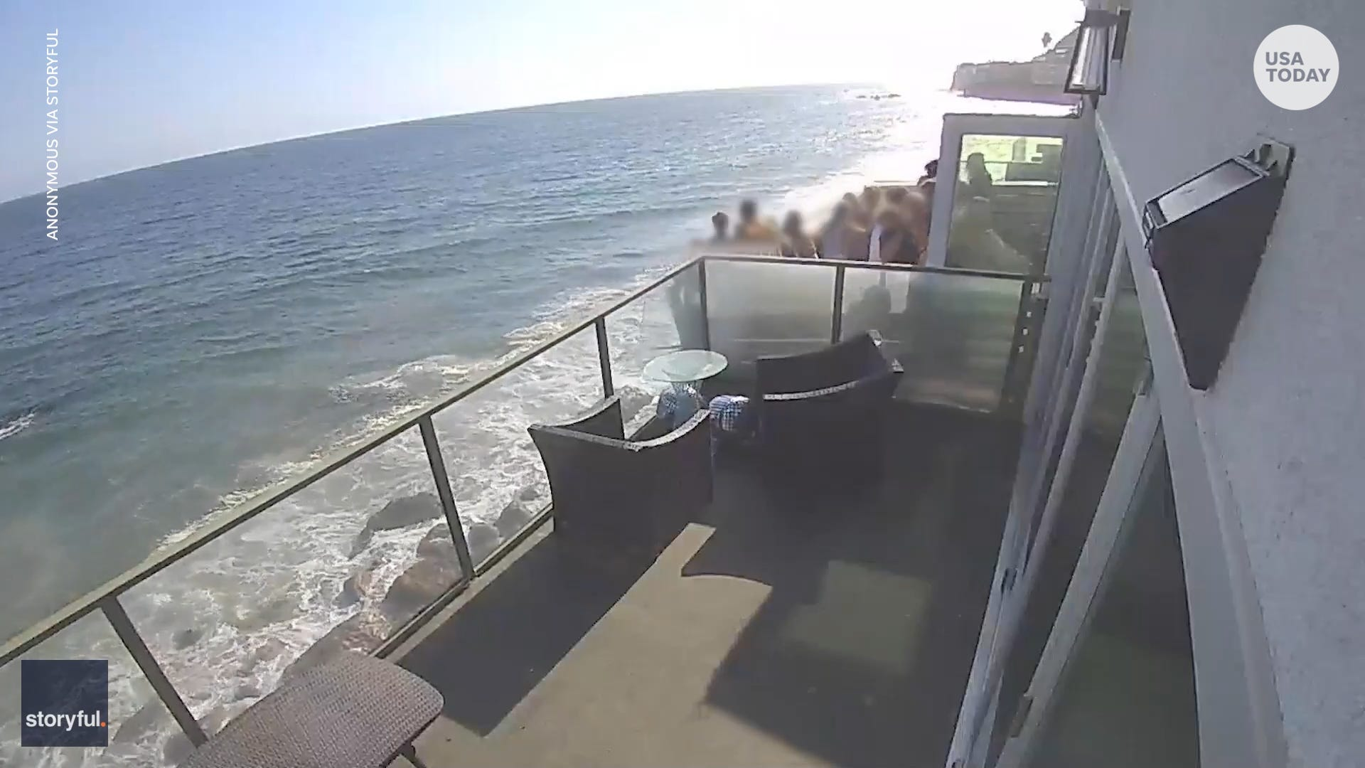 Crowded balcony collapses on beachfront property in California