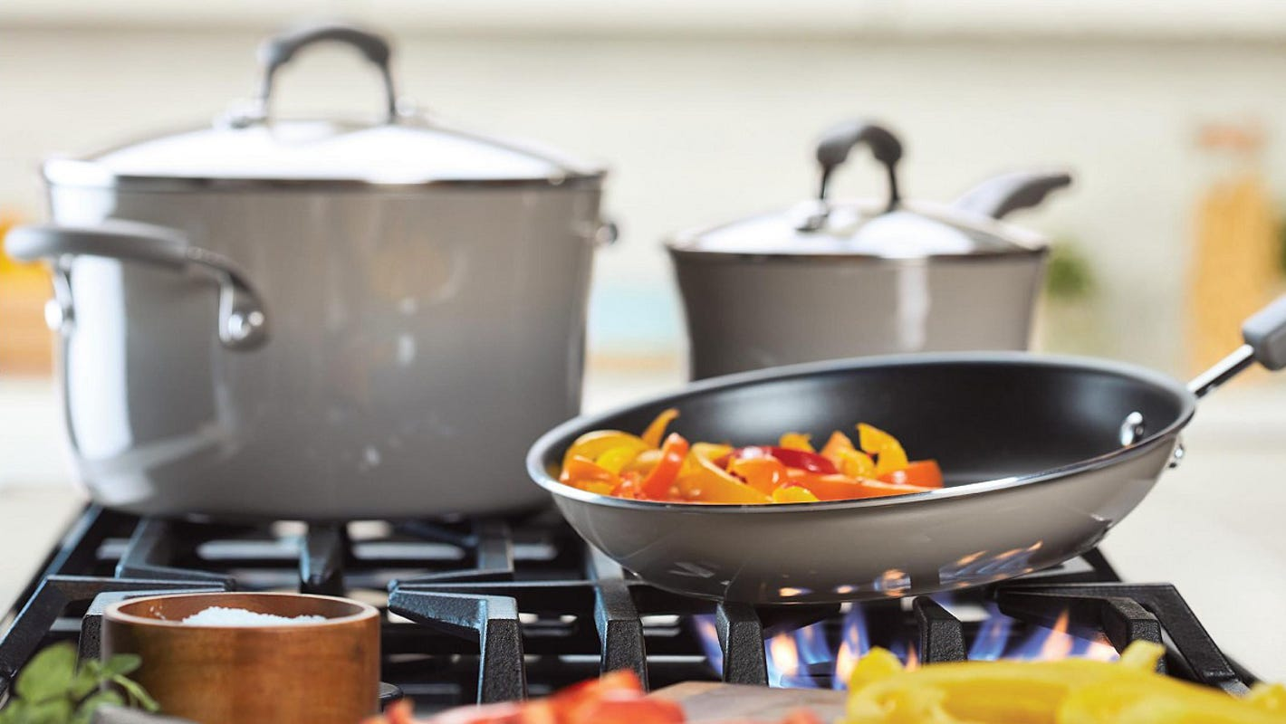 This popular 19-piece Rachael Ray cookware set is 64% off—but only for today