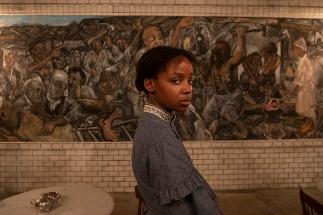 "Thuso Mbedu as Cora Randall on ""The Underground Railroad."""