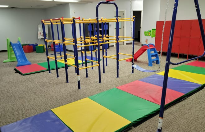 An indoor group play space inside the new Action Behavior Centers at 7200 Wyoming Springs Drive in Round Rock. The center celebrated its grand opening on Monday.