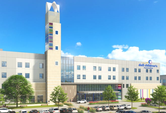 The new Dell Children's North, seen in this rendering, will open in November 2022 with 36 beds and room to grow.