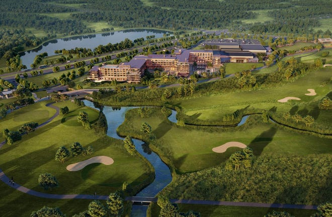 The PGA Omni in Frisco will sit adjacent to a pair of championship golf courses and the new headquarters of the PGA of America.