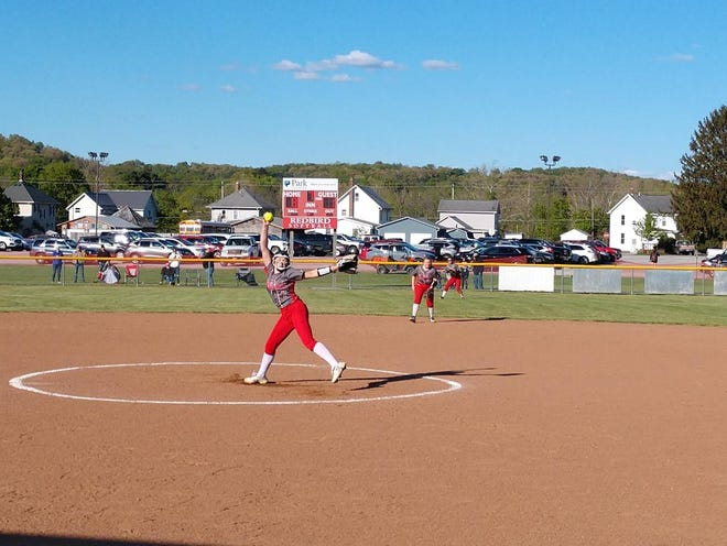 Loudonville's Payton Barnett delivers a pitch against Columbia Wednesday at Loudonville High School.