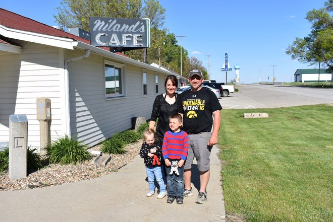 Abi and Danny Wilson are the new managers of Niland's Cafe and the Colo Motel. The longtime residents of Colo have five children, the youngest of whom are pictured here.