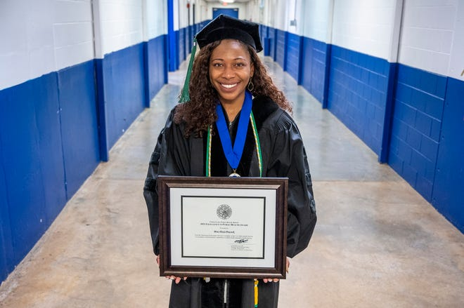 Dr. Bria Peacock was given the 2021 Excellence in Public Health Award from the U.S. Public Health Service, becoming only the third MCG student in the school's history to receive its top award for medical students.
