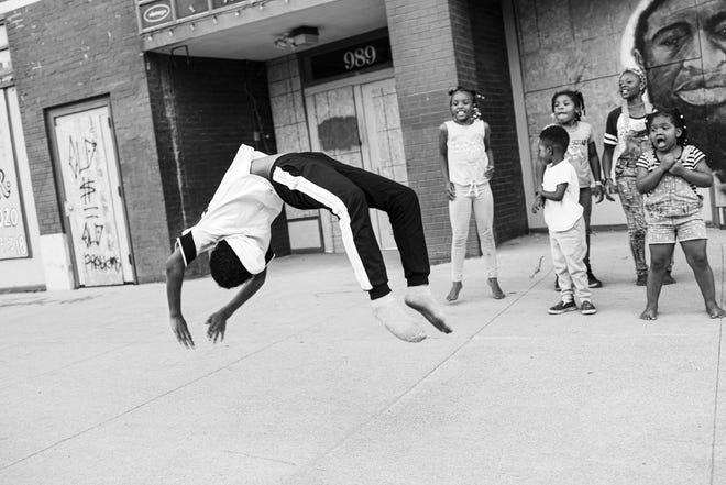 """Shoeless Acrobatics on High Street, 2020"""