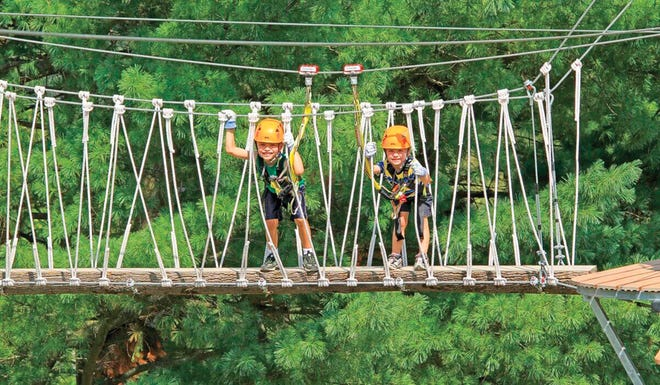 The DragonFly tour at Hocking Hills Canopy Tours caters to ages 5-12.