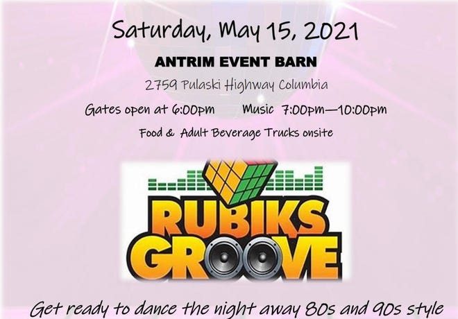 Columbia Noon Rotary's annual Music in Maury concert will feature Rubiks Groove this Saturday starting at 7 p.m. All proceeds will benefit Noon Rotary's Scholarship Fund.