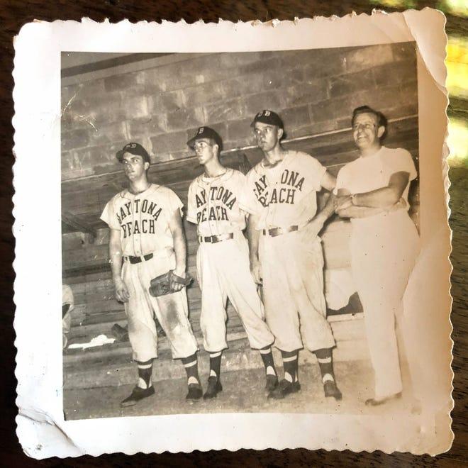 Daytona Beach Islanders in the dugout in the 1950s.