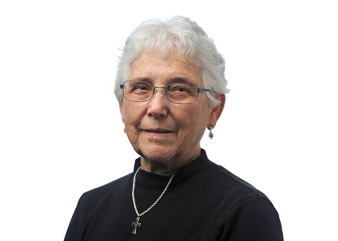 Sister Natalie Rossi, a member of the Sisters of Mercy in Erie, was photographed March 27, 2017, at the Erie Times-News.