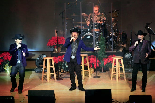 """The Texas Tenors preform in """"Deep in the Heart of Christmas"""" as part of the Civic Music series Dec. 8, 2015, at Memorial Auditorium in Burlington."""
