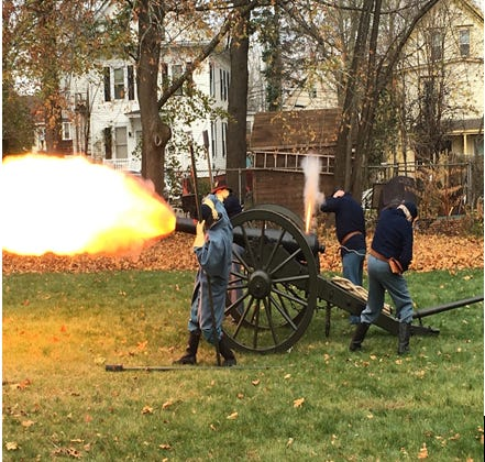 The Woodman Museum will have a cannon firing demonstration at the Pine Hill Cemetery Lower field at its annual Memorial Day Remembrance.