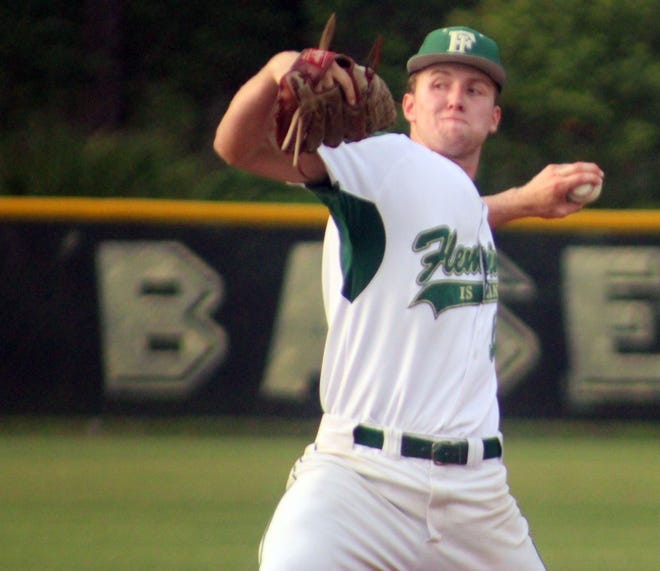 Fleming Island's Cody Carwile delivers a pitch against Creekside in a regional baseball semifinal.