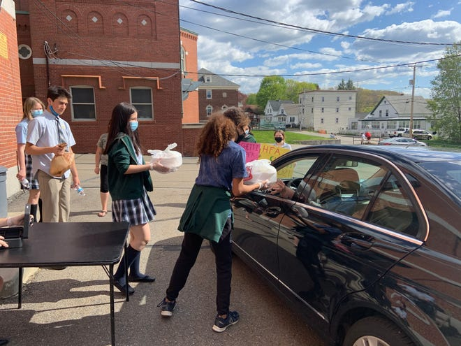 More than 200 spaghetti and meatball dinners were served during the fundraising event at Holy Family Academy in Gardner on May 13.