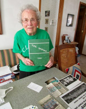 Lenora Pritchard, 96, shares memories of her years at Geneseo Township High School.