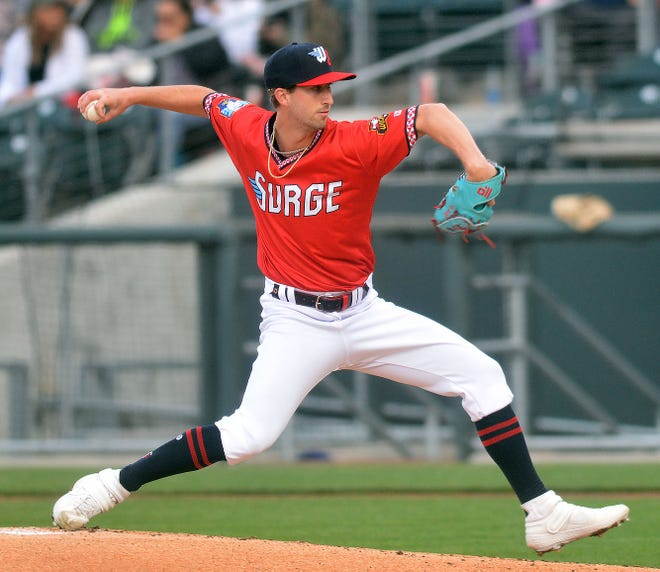 Wichita Wind Surge starting pitcher Austin Schulfer threw five scoreless innings Wednesday in a 1-0 win over Amarillo. It was the first home win for the team at Riverfront Stadium and the second shutout win of the year.