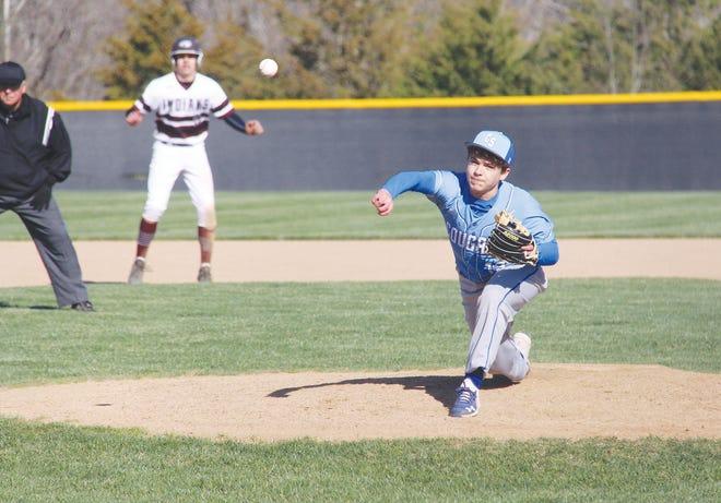 Climax Springs junior pitcher Owen Plott.
