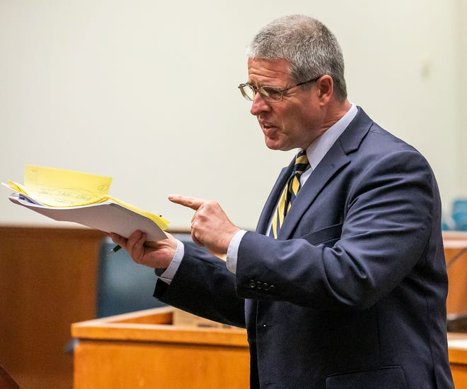 """""""It's troubling that the officer would go to this length to get an arrest,"""" said defense attorney Jim Tarquin, shown here in a 2019 file photo. He represents one of the four people whom former deputy David Ur arrested under questionable circumstances."""