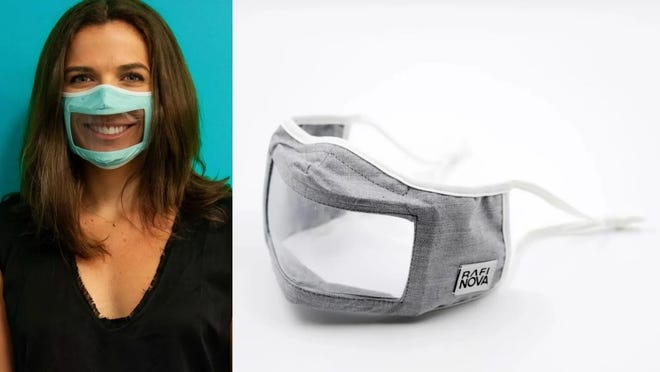 These masks make it easy to read lips and facial expressions.