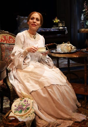 """Margery Lowe as Emily Dickinson in """"The Belle of Amherst"""" at Palm Beach Dramaworks. (Photo by George Horrocks)"""