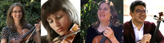 """A string quartet of Portsmouth Symphony Orchestra musicians will play two """"Live Under the Arch"""" concerts outside at The Music Hall in Portsmouth on Sunday, May 30 at 5 p.m. and 7 p.m."""